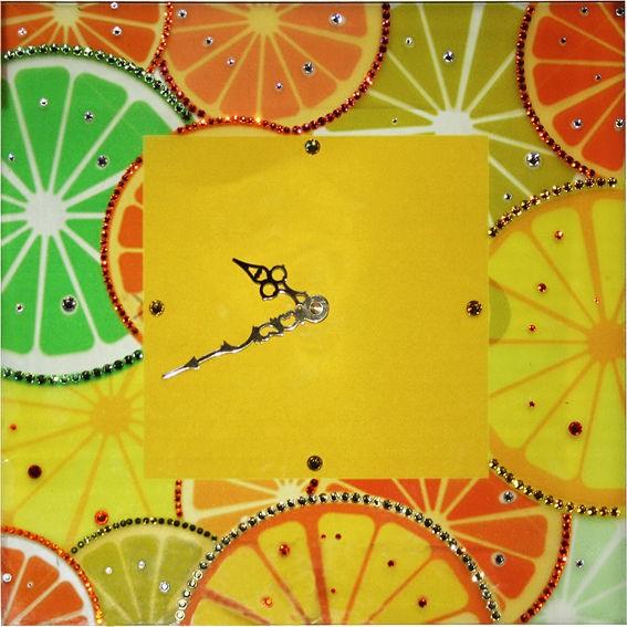 Часы с кристаллами сваровски Апельсины