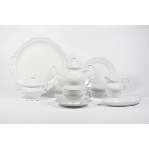 Чайный сервиз на 6 персон Ювел кремовый