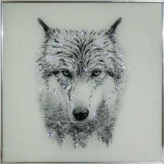 Картина с кристаллами Сваровски Таёжный волк