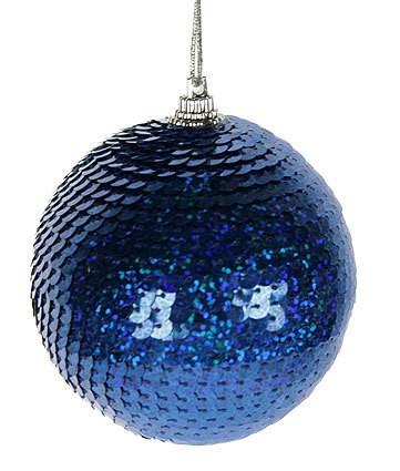 Набор ёлочных игрушек Диско-шар, синий