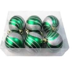 Новогодние матовые зеленые шарики