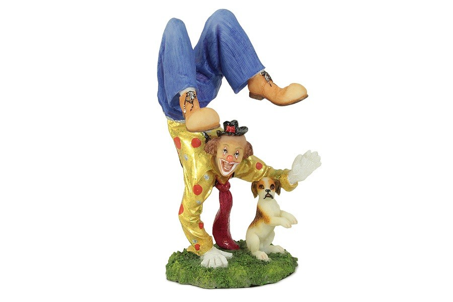 Статуэтка Клоун с собачкой (Veronese)