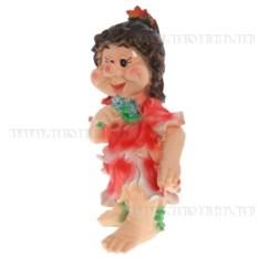 Декоративная садовая фигурка Девочка с цветочками