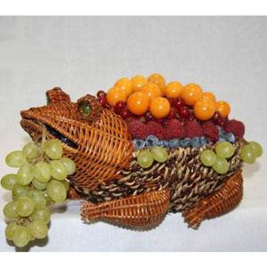 Корзина с фруктами «Фруктовый Лягушонок»