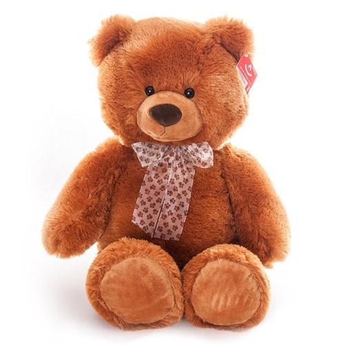 Мягкая игрушка Aurora Коричневый сидячий медведь (54 см)