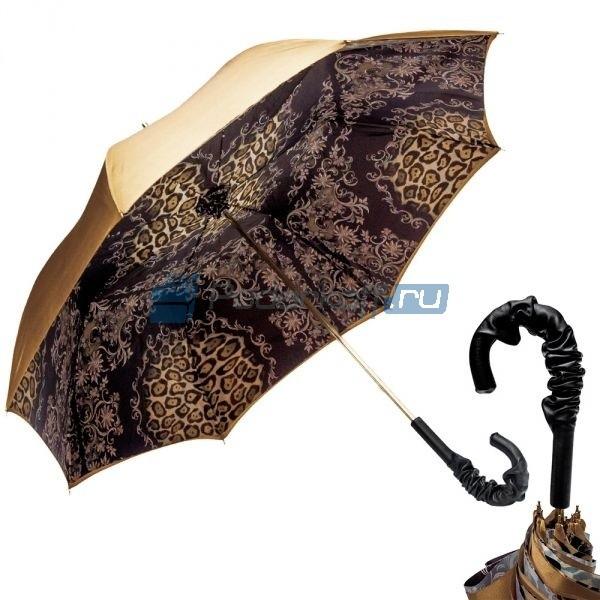 Женский зонт-трость Pasotti Leo Fiore Pelle
