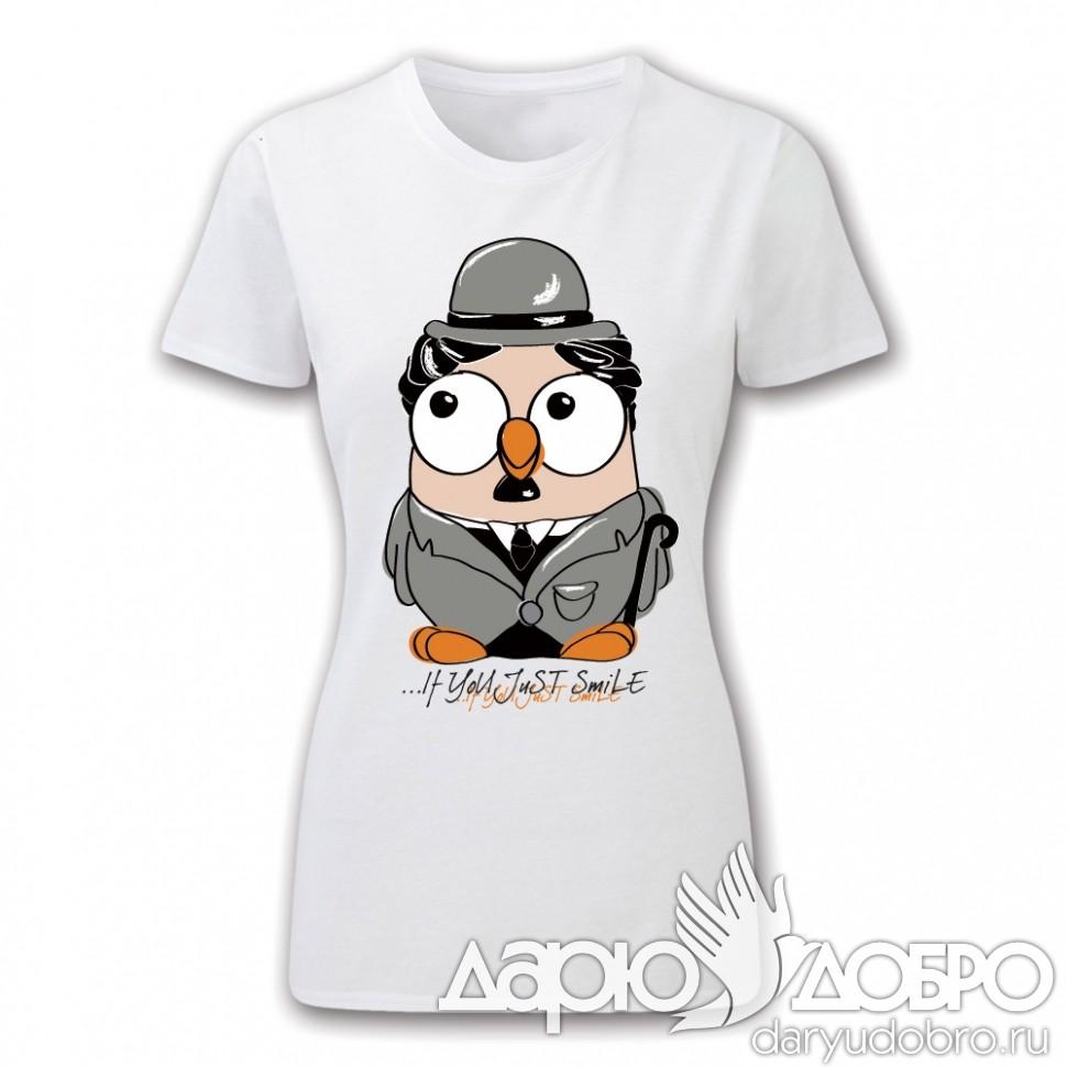 Женская футболка с совой Чарли