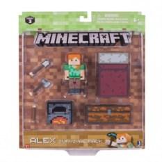 Фигурка Алекс с набором для выживания от Minecraft