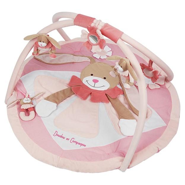 Развивающий коврик «Розовый кролик»