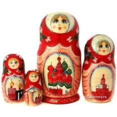 Набор матрешек Москва (высота 16 см)