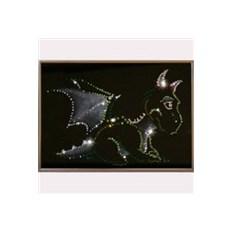 Картина с кристаллами Swarovski Дракоша
