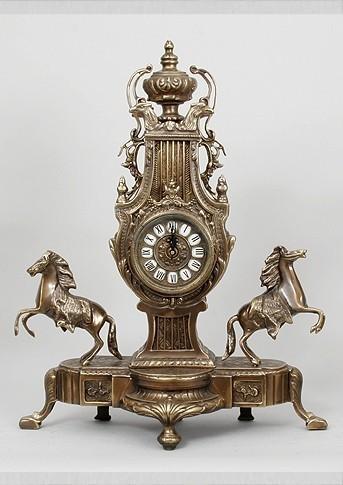 Бронзовые часы Пара лошадей-2