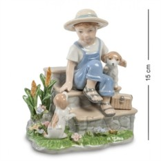 Статуэтка Мальчик со щенками (Pavone)