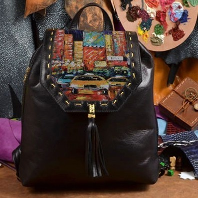 Женский кожаный рюкзак ручной работы Мегаполис