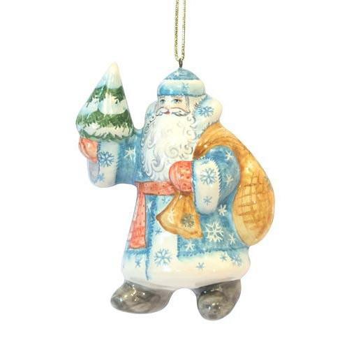 Ёлочная игрушка Дед Мороз с ёлкой