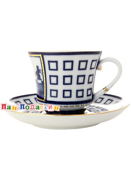 Чайная чашка с блюдцем Аничков мост