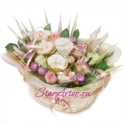 Букет из конфет Нежные розы
