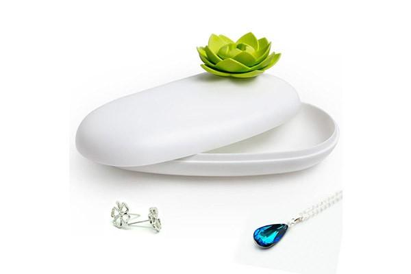 Бело-зеленая шкатулка Lotus