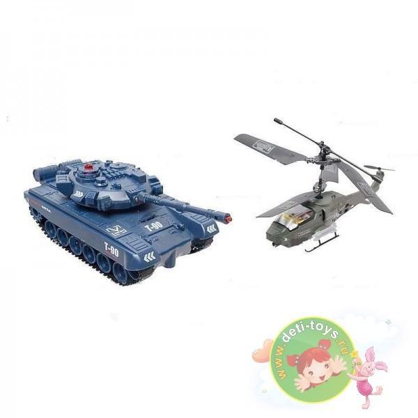 Радиоуправляемый набор танк + вертолет