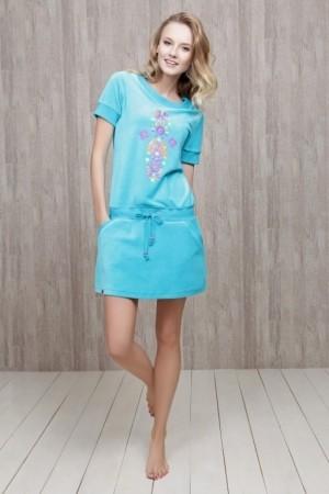 Домашнее велюровое платье Nic Club