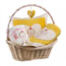 Набор для новорожденного в корзине Дочка