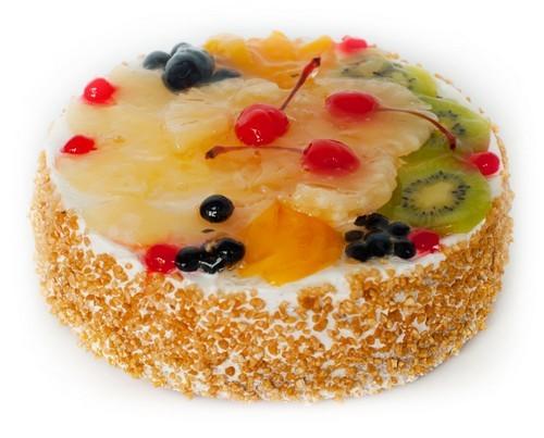Торт сливочный фруктами рецепт фото