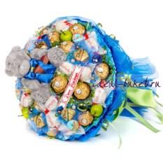 Синий букет конфет Сладкое поздравление