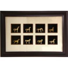 Картина фэн шуй интерьерная 8 лошадей успеха