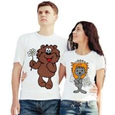 Парные футболки Влюбленные мишка и ёжик