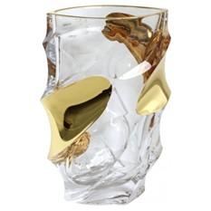 Хрустальная ваза с позолотой