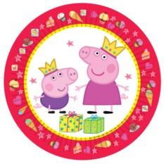 Тарелки «Пеппа-принцесса»