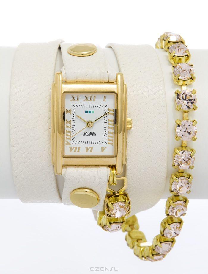 Часы наручные женские La Mer Crystal Silk Chandelier