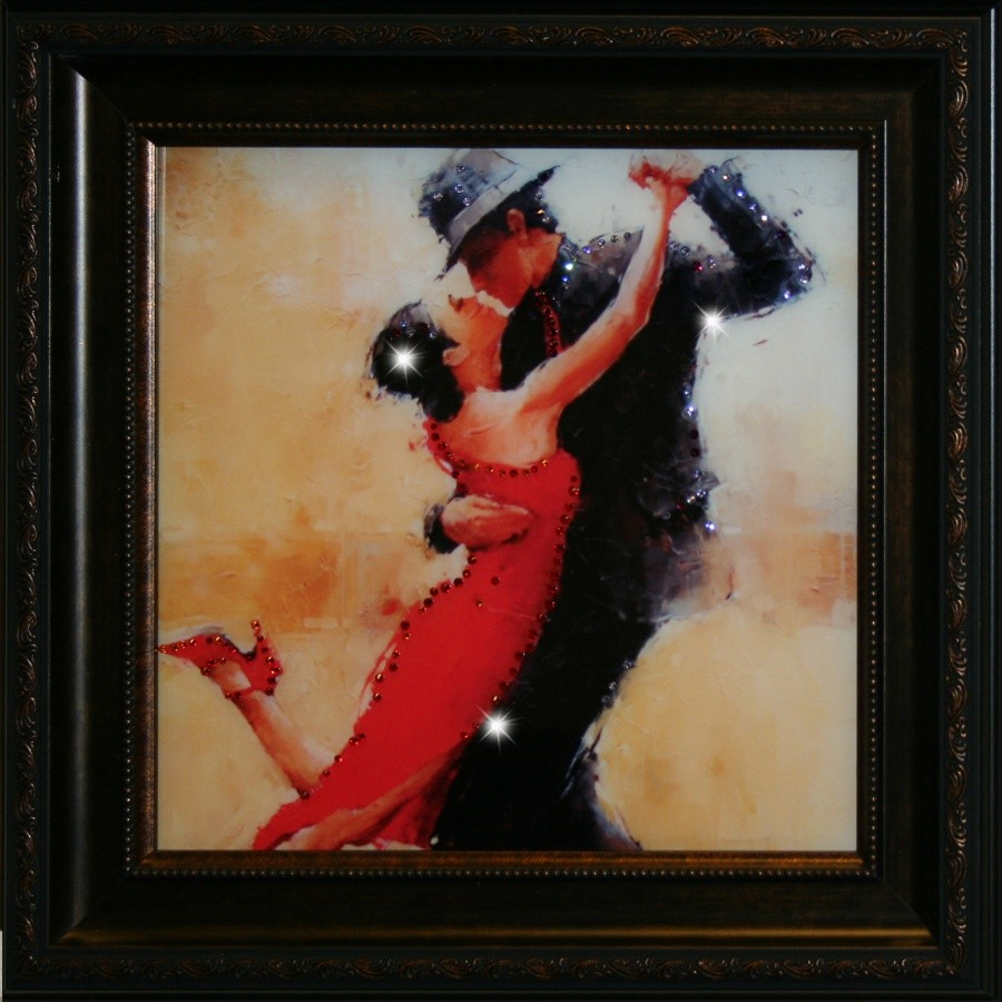 Картина с кристаллами Swarovski Танго