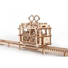 3D-пазл Трамвай с рельсами
