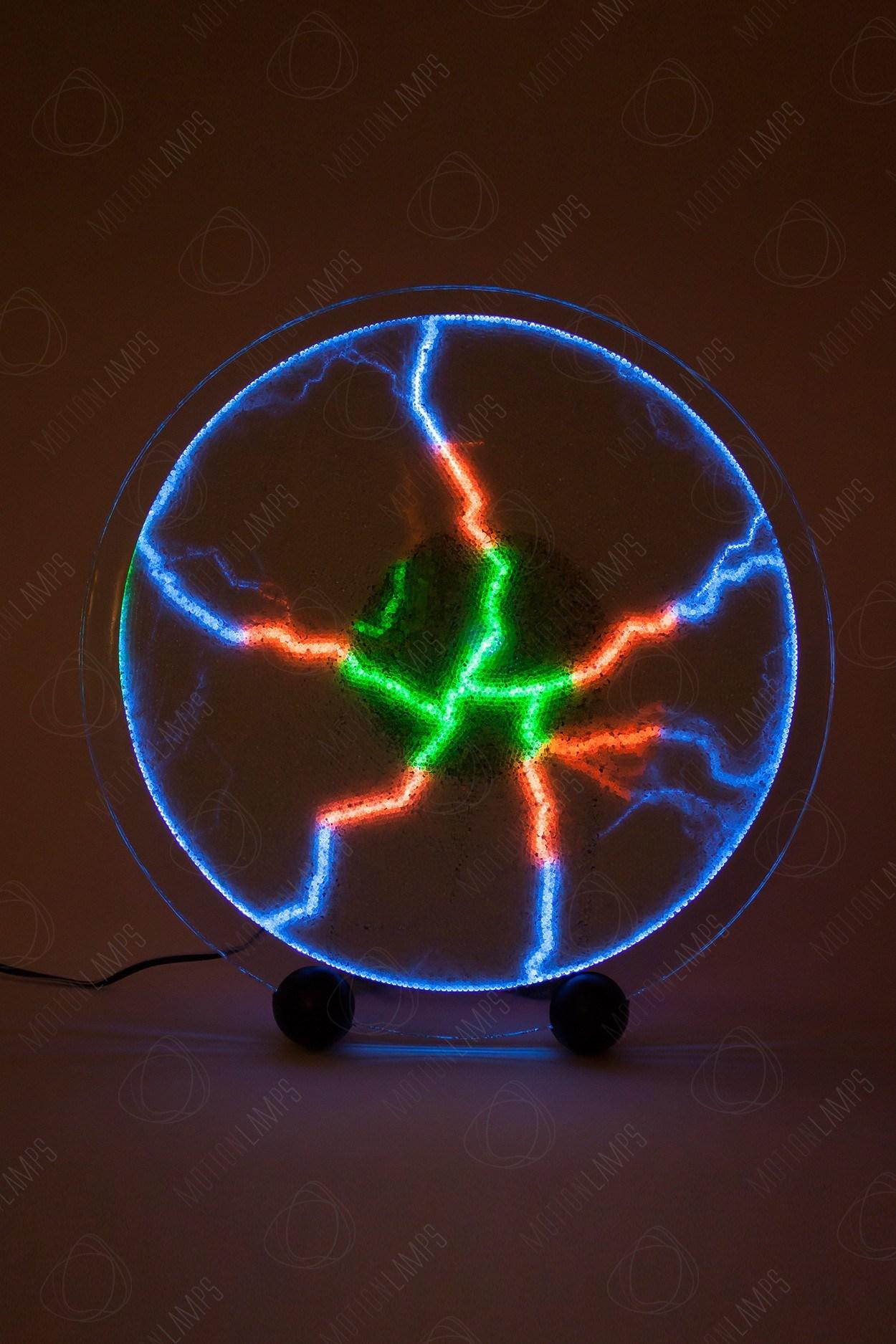 Электрический плазменный диск Rainbow (Giant) D, 30см