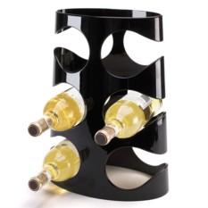 Черная подставка для винных бутылок Grapevine