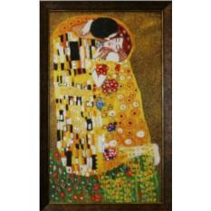 Картина с кристаллами Сваровски Поцелуй Климт