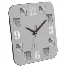 Алюминиевые часы с квадратными фоторамками Плате