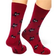Бордовые носки Friday Cat Walks