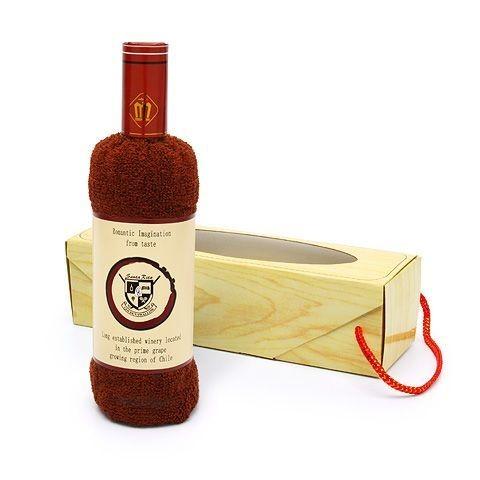 Полотенце Бутылка вина в коробке