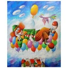 Картина-раскраска по номерам на холсте Сон в небе