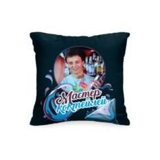 Подушка с вашим фото «Мастер коктейлей»
