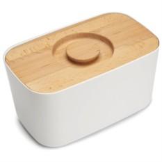 Белая хлебница с разделочной доской