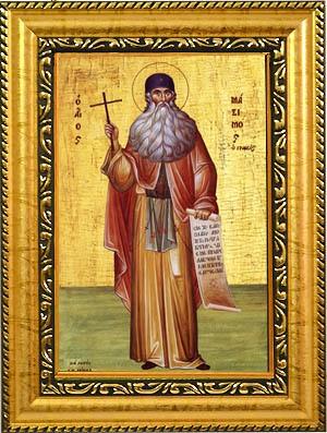 Икона Максим Грек Преподобный, на холсте.