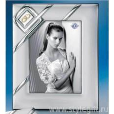 Свадебная фоторамка для фото 15х20 см. (LEADER ARGENTI)