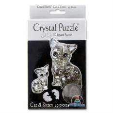 3D-головоломка Crystal Puzzle «Кошка» из 49 деталей