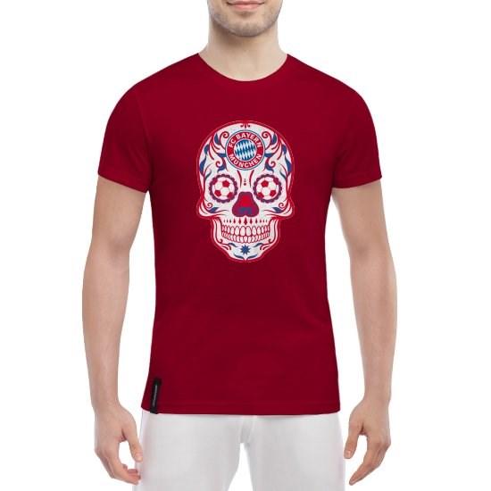 Красная мужская футболка Bayern Мексиканский череп