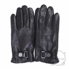 Черные кожаные перчатки для сенсорного экрана Petan
