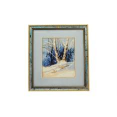 Вышитая картина «Зимний лес»