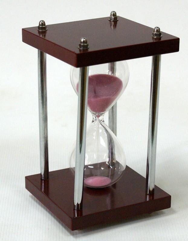 Песочные часы 5 минут (розовый песок)